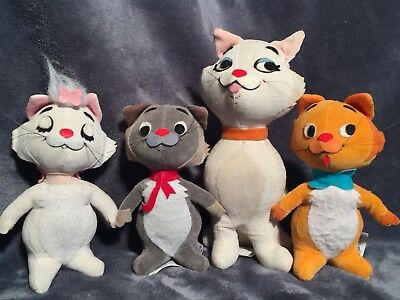 Disney RARE Pre-movie Release Aristocat's Sawdust Filled Characters Japan 1966