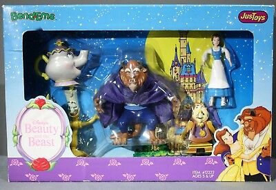Disney Beauty and the Beast Justoys Bend-Ems 5 Piece Gift Set NEW IN BOX
