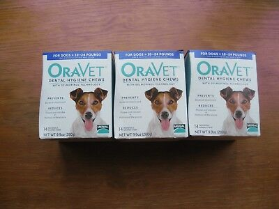 Oravet Dental Hygiene 42 Chews For Dogs 10-24 lbs, BEST IF USED BY 8/9/18