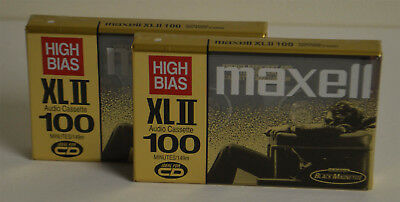 Maxell Cassette XLII100 100 Minute High Bias CrO2 Lot of 2  New Made in Japan