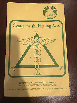 """CENTER FOR THE HEALING ARTS rare 1975 booklet """"Psychoenergetics of Conciousness"""""""