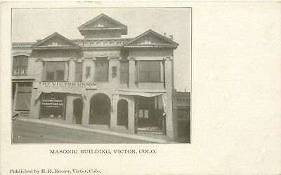 A View Of The Masonic Building, Victor, Colorado CO 1907