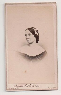 Vintage CDV Agnes Robertson Victorian Actress Gurney & Sons Photo