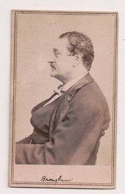 Vintage CDV  John Brougham Irish-American actor, dramatist Anthony / Brady Photo