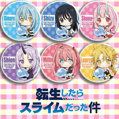 6 Piece That Time I Got Reincarnated as a Slime Tempest Rimuru Badge Cos Gift