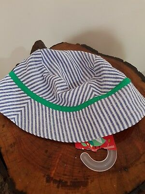 Bnwt Baby Boy Brand New Ollies Place Sunhat Size 0 6 - 12 Months