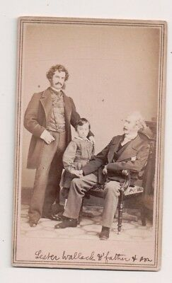 Vintage CDV Lester Wallack son Charles & Father James W. Wallack American Actors