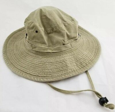 Vintage Boonie   Fishing Hat Dorfman Pacific Co. MEDIUM Khaki 100% Cotton  DPC e413cf813
