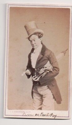 Vintage CDV John E. Owens English-American comedian, Fredrick's Photo