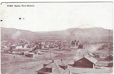 View of Raton, New Mexico Vintage Postcard