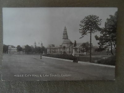 Vintage Postcard- City Hall & Law Courts Cardiff