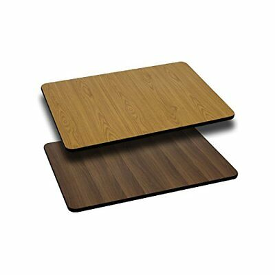 Flash Furniture 24'' x 30'' Rectangular Table Top with Natural or Walnut Reve...