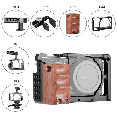 SmallRig Cage kit/Handle Wooden Handgrip/HDMI Cable Clamp for Sony A6000/A6300