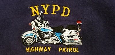 NYPD New York City Police Department NYC Sweatshirt Highway Patrol Sz XL