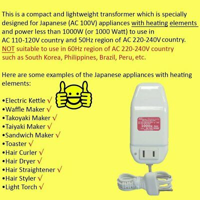 2000W AC Voltage Power Converter Transformer 220V/230V/240V Step Down 100V Japan