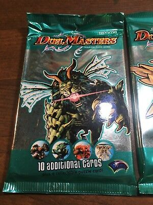 2004 Duel Masters TCG DM-01 Booster Pack Lot of 10 SEALED Packs