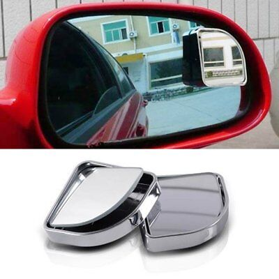2pcs 360° Concave Mirror Rear View Blind Spot Glass Mirrors for Car Van Truck OG
