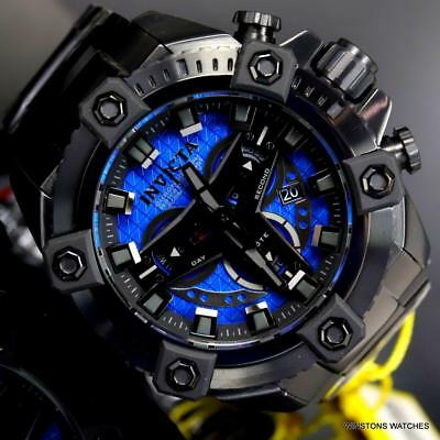 Invicta Grand Octane Coalition Forces Blue Black Steel 63mm Swiss Mvt Watch New