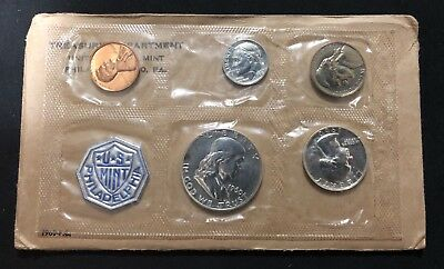 1960 Proof Set With COA ~ Original Envelope ~ US Silver Mint Coin Set Large Date