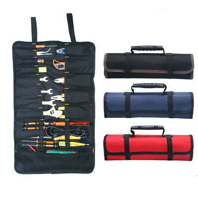 Car Hardware Tool Bag Roll Screwdriver Spanner Case Pouch Bag Reels 22 Pocket