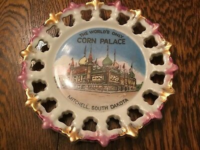 "Vintage ""The Worlds Only Corn Palace"" Mitchell South Dakota Collector Plate"