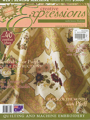 CREATIVE EXPRESSIONS issue 1 with Jenny Haskins Machine Embroidery