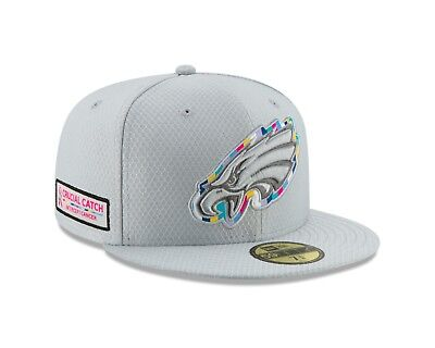 3a17f0fae83dcc Philadelphia Eagles New Era 2018 NFL Crucial Catch 59FIFTY Fitted Hat - Grey
