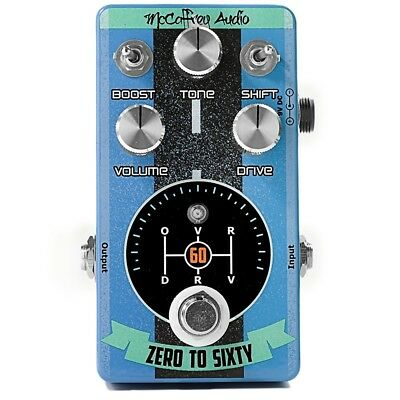 McCaffrey Audio Zero to Sixty Drive Overdrive Guitar Effects Pedal 0 60 Stompbox