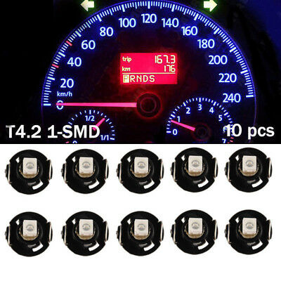 10X Blue T4 T4.2 Neo Wedge 1-SMD LED Cluster Instrument Dash Climate Bulbs New
