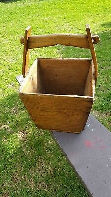 Antique Chinese Wooden Rice Bucket