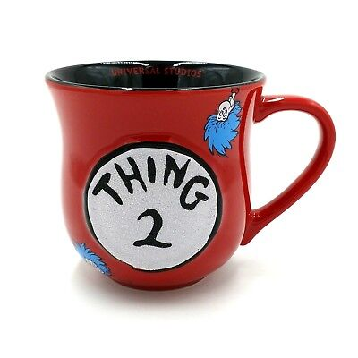 Universal Studios Dr Seuss Thing 2 Large Coffee Mug 500mls Red  Cat in the Hat