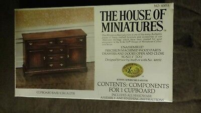 The House Of Miniatures Components For One Cupboard #40053
