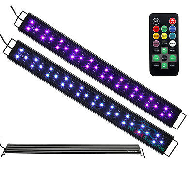 AQUANEAT Aquarium Light Color Changing Remote Control Dimmable LED 23 to 33 Inch