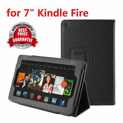 "Durable Leather Stand Case Cover For Amazon Kindle Fire 7"" Multi-Touch Screen"