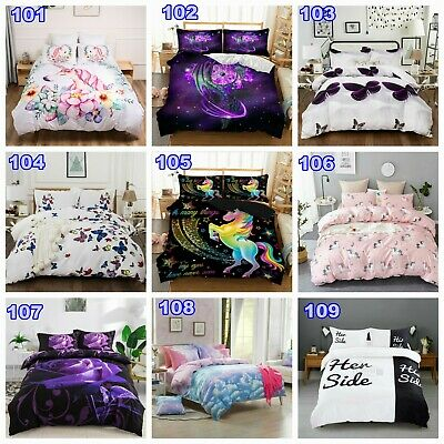 Unicorn Nature Quilt Duvet Doona Cover Set Single Queen King All Size Animal New