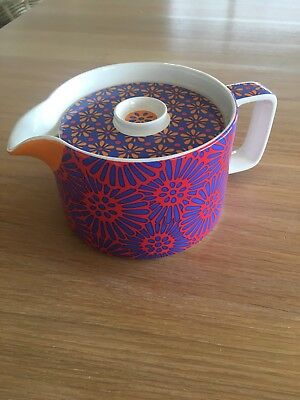 T2 Tea Pot Large Bright Colorful Floral Brand New