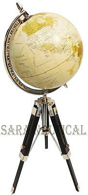 Nautical Table Decorative Globe with Tripod Stand World Map Globe Desktop