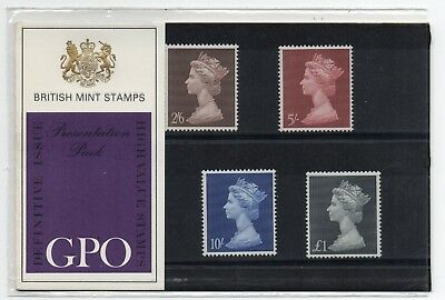 GB 1969 2/6 - £1 High Value Machin Definitive Presentation Pack no 7 VGC stamps