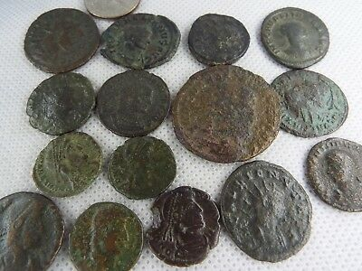 8MB Lot of 15 pcs.Ancient Late Imperial Roman Coin