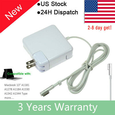 "60W AC Charger For Apple MacBook Pro 13"" A1181 A1278 A1344 2008 - Mid 2012 L-Tip"