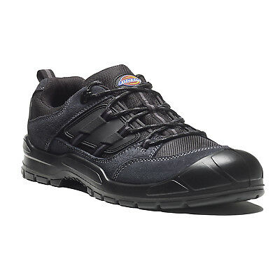 Dickies Everyday Safety Work Trainer Shoes Grey & Black (Sizes 3-14)