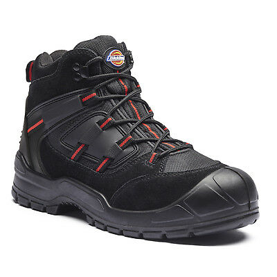 Dickies Everyday Safety Work Boots Black & Red (Sizes 3-14) Men's Shoes
