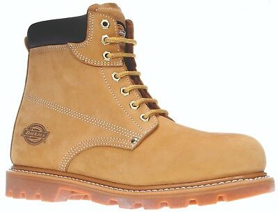 Dickies Cleveland Safety Work Boots Tan Honey (Sizes 6-12)