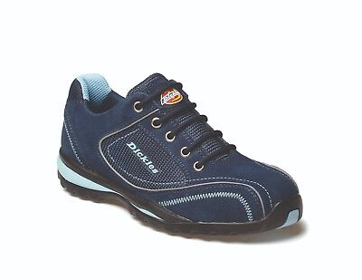 Dickies Ottawa Ladies Safety Work Trainer Shoes Blue (Sizes 3-8)