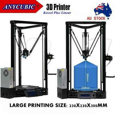 AU STOCK ANYCUBIC 3D Printer Kit KOSSEL Plus Linear Auto Level with PLA Filament