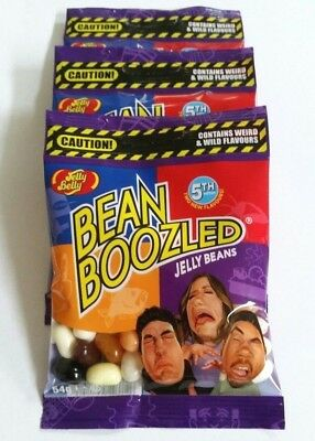 3 x BEAN BOOZLED 54g 5th EDITION * Fast & Free Post * Jelly Belly Beans