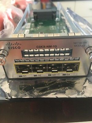 USED Cisco C3KX-NM-1G 1G Network Module for 3560-X and 3750-X Series Switches