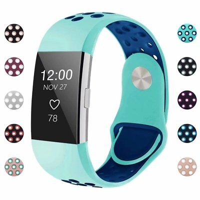 FOR Fitbit Charge 2 Watch Band Replacement Strap Silicone Wristband Size S/L IGK