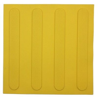 Brutus TACTILE GROUND SURFACE INDICATOR MATS 3Pcs R10 Slip Rating YELLOW STRIPS