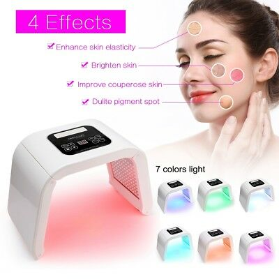 Photon Light 7 Color LED Photodynamic PDT Mask Facial Care Therapy Machine GHS 9
